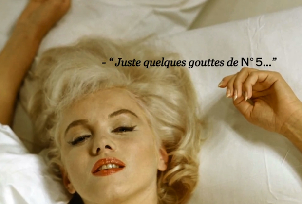 Marilyn in bed with Chanel n°5