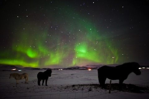 Magnifiques aurores boréales... © DR Icelandair.