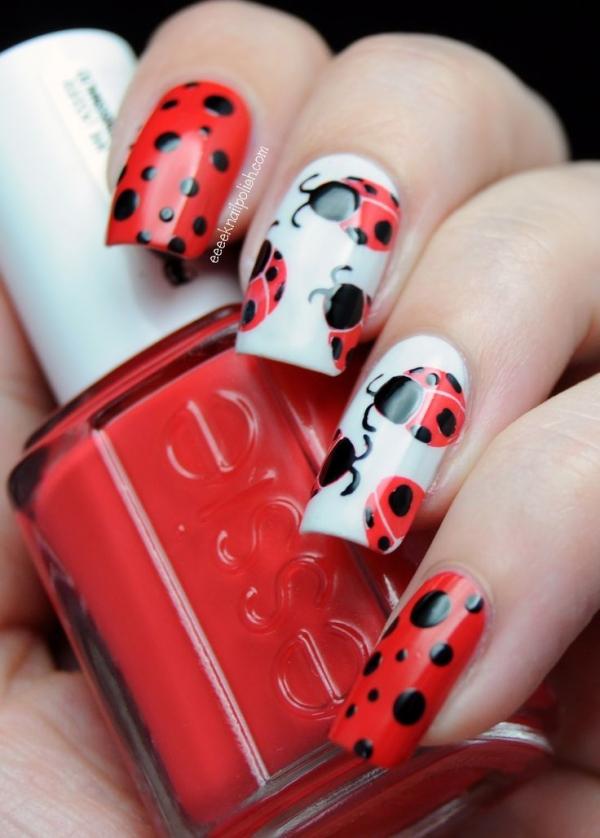 nail art coccinelle