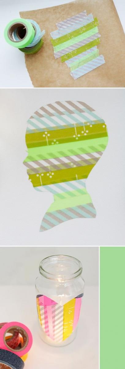 Masking tape silhouette