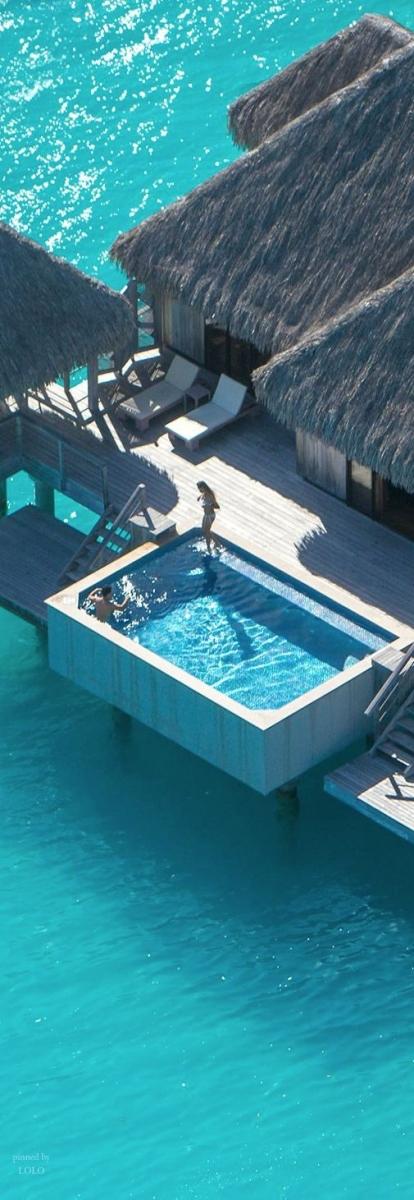 Ces endroits paradisiaques o j 39 aimerais tre l maintenant tout de suite la bulle - Verre pile piscine ...